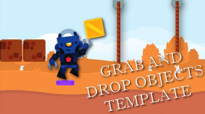 HOW TO GRAB AND DROP OBJECTS WITH LINKS GDEVELOP TEMPLATE