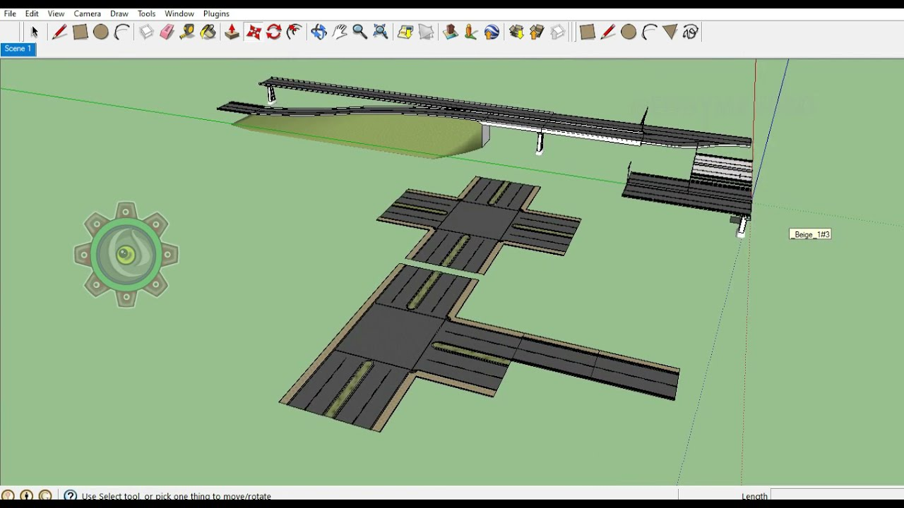 Create a 3d Highway kit for Game engine Sketchup Pro  3d Modeling Tutorials for Beginners.