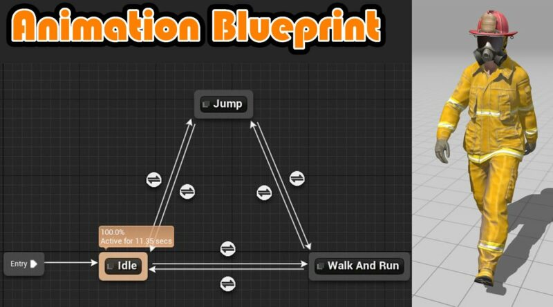 How To Make An Animation Blueprint And Blendspace - Unreal Engine 4 Tutorial