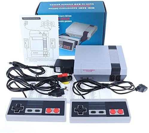 Classic Games Console Retro Handheld Game Console AV Output Video Games Built-in 620 Classic Games for Kids& Adults Children Gift, Birthday Gift