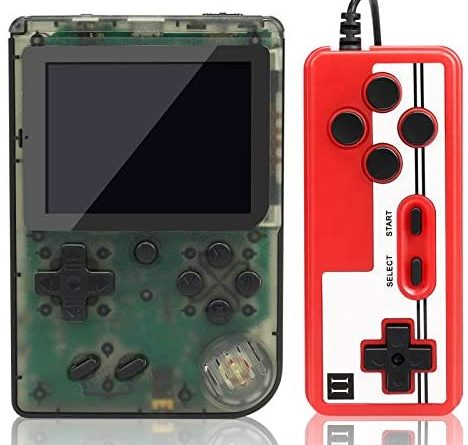lzndeal Handheld Game Console FC280 Fashion Retro Mini Game Player with 400 Classic Games 3.0 Inch Color Screen Transparent Portable Game Console Support TV Connection & Two Players for Kids Adults