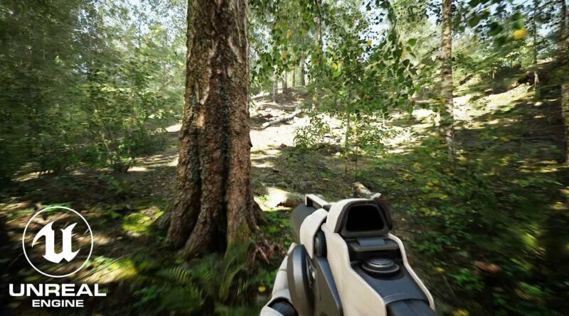Unreal Engine 4 RTX 3090 Realistic Forest
