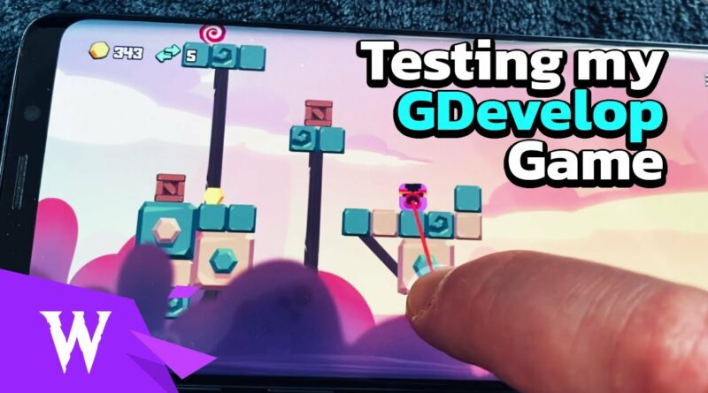 Testing Squaremoji on an Android Device - Indie Game made with GDevelop