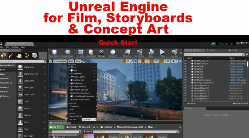 Unreal Engine for Film, Storyboards & Concept Art- for beginners