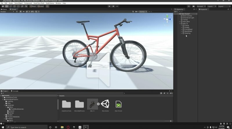 How to Make Motorbikes and Push Bike Physics in Unity Tutorial