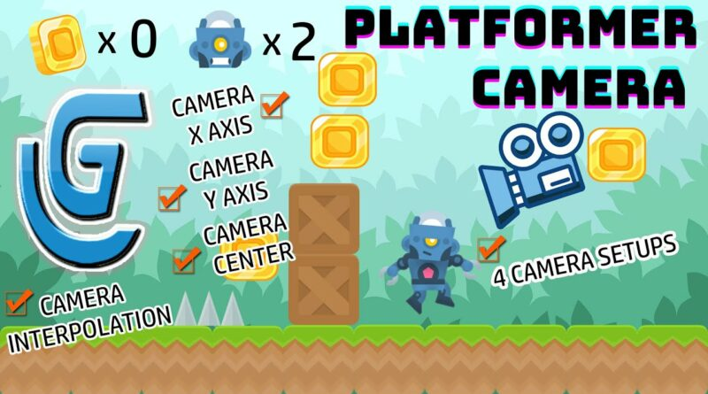 How to create a player camera in GDevelop 5 platformer tutorial