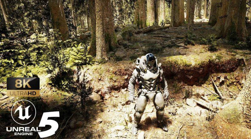 Unreal Engine 5 RTX 3090 Realistic Forest with Lumen and Nanite