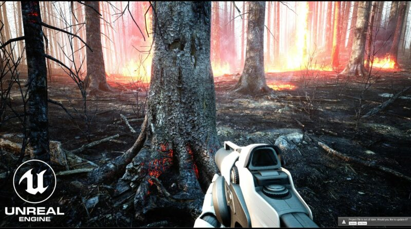 Unreal Engine 4 RTX 3090 Realistic Burned Forest