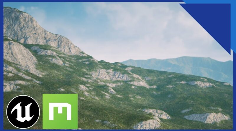 Unreal Engine 4: How to QUICKLY Make a Landscape Auto Material Using Megascans (with DISPLACEMENT)