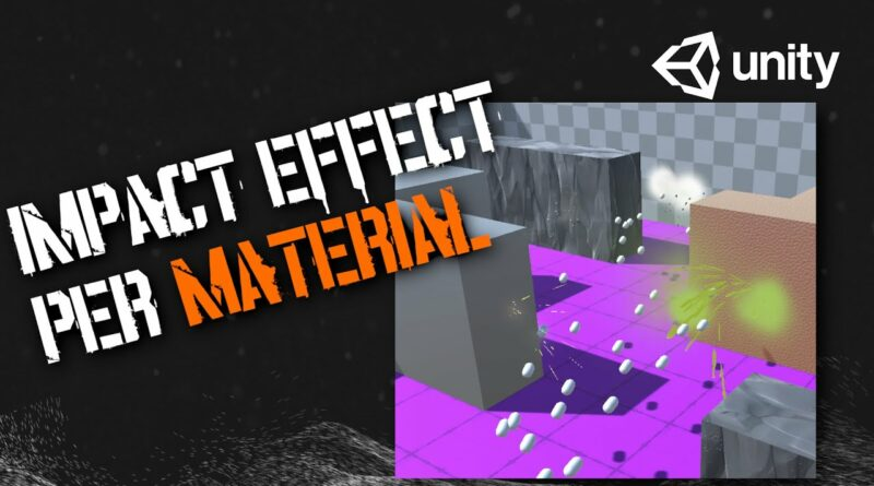 How to Make Bullet Impact Effects Based on Collision Material   Unity Tutorial