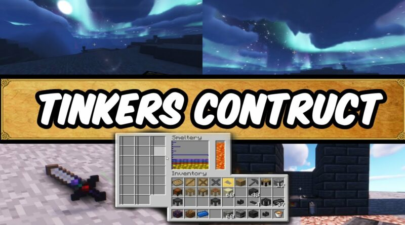 Tinkers Construct How to get started and make tools (Beginners Guide) 1.12 Mods best minecraft