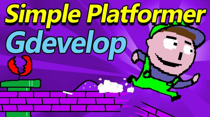 HOW TO MAKE A SIMPLE PLATFORMER GAME IN GDEVELOP  (Best Free Game Engine 2020)