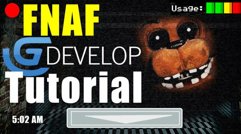 HOW TO MAKE FNAF FOR FREE IN GDEVELOP (Five nights at Freddy's Tutorial)