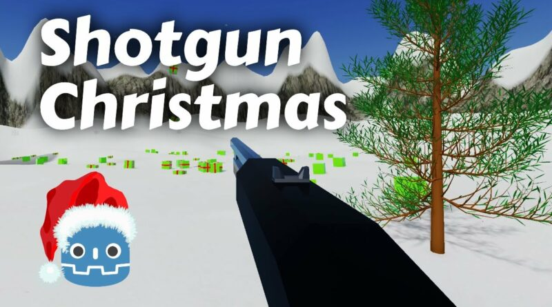 I made a Christmas FPS in Godot - Play it now!