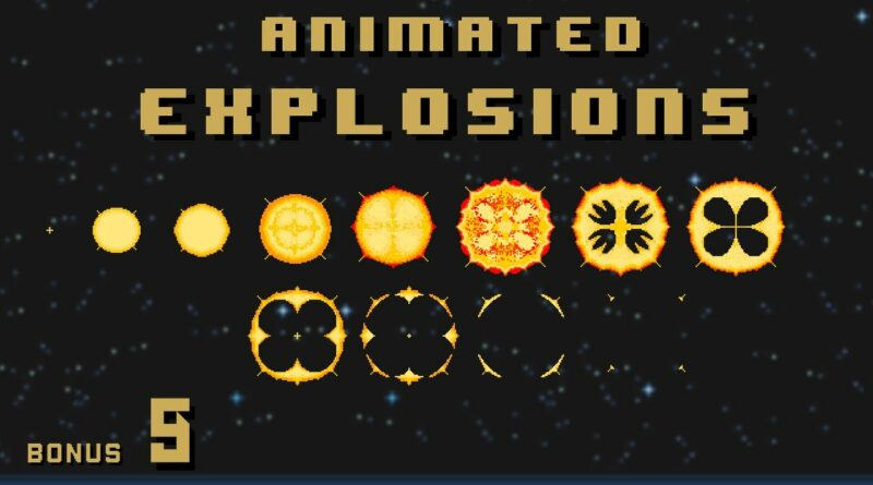 Animated Explosions | MAKE A SHMUP game like Gradius #9 | Unity How To Tutorial