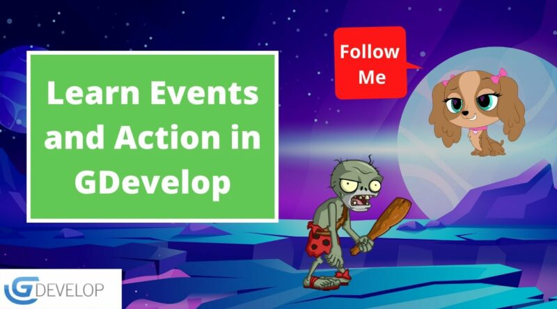 Enemy Follow Player Game | GDevelop 5 | Events and Action