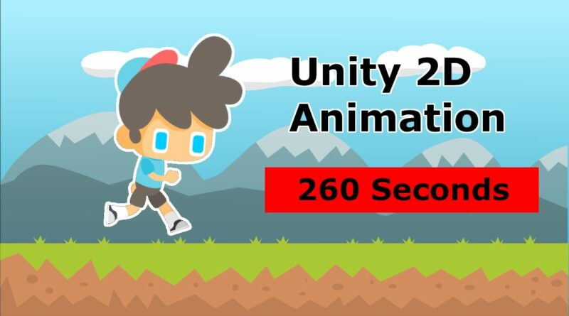 Unity 2D Animation in 260 Seconds