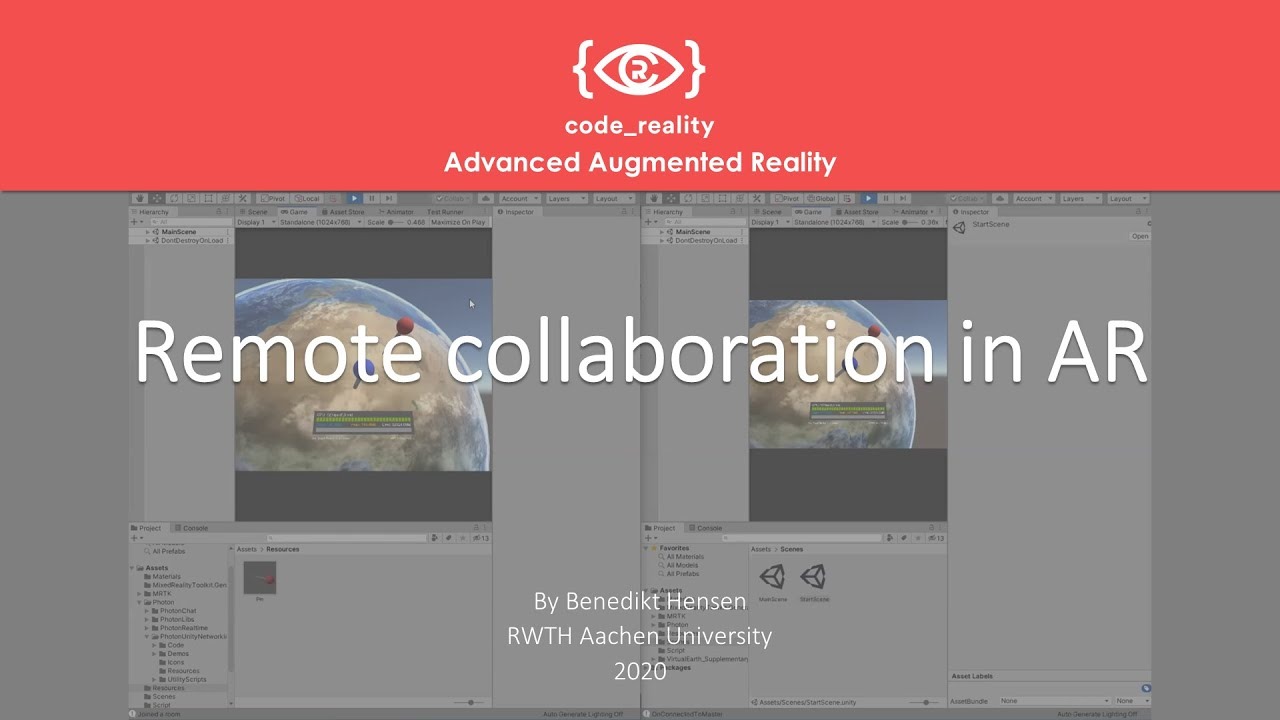 Advanced Augmented Reality: Remote Collaboration in AR (virtual Earth)