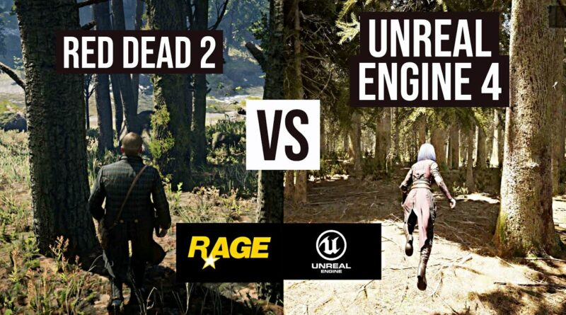 Unreal Engine 4 Realistic Forest vs Red Dead Redemption 2