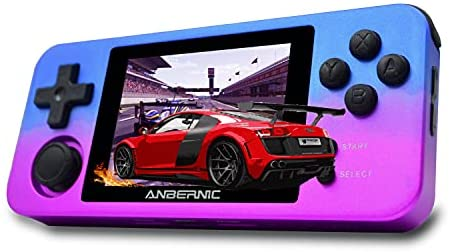 MJKJ RG280M Handheld Game Console , Retro Game Console OpenDingux Tony System , Free with 32G TF Card Built-in 2500 Classic Game Console 2.8 Inch IPS Screen Portable Video Game Console - Gradient