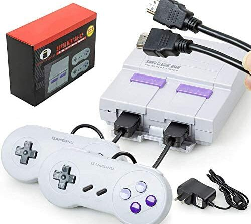 Maconhey Retro Game Console, Handheld Video Game Console with 2 NES Controllers, Classic Gaming Console Built-in 821 NES Old School Games, HDMI HD Output, Ideal Gift for Backing to Childhood