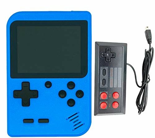 RFiotasy Handheld Game Console with 400 Classical FC Games Console 2.8-Inch Color Screen,Supporting 2 Players,Gift Christmas Birthday Presents for kids, Adults(YJ-Blue)