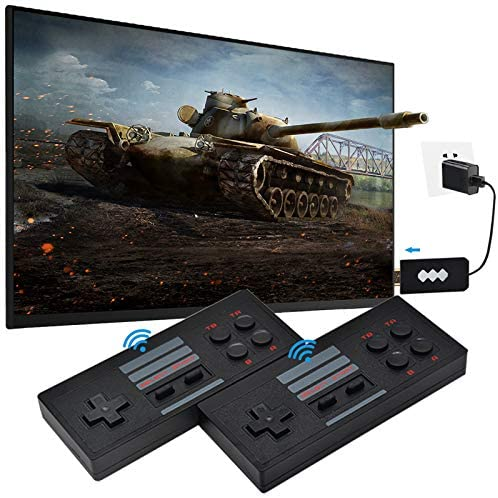 WWahuayuan Retro Game Console,Mini Retro Game Consoles Built-in 818 Classic Games Dual Gamepad Gaming Player,Plug and Play Video Handheld Game Console