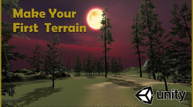 How to Make Your First Terrain on Unity [BEGINNERS TUTORIAL]