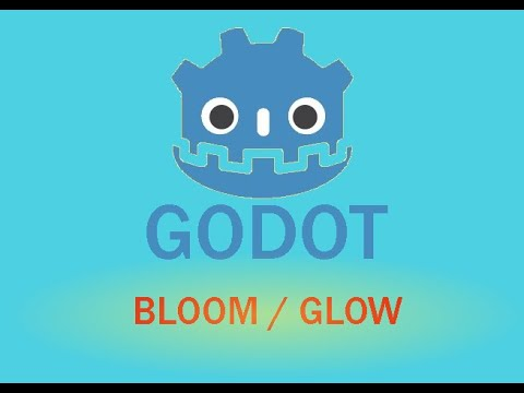 GODOT Bloom and Glow effect using the WorldEnvironment node in 2D