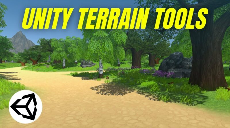 Using Terrain Tools to Create 3D Landscapes (Unity Tutorial)