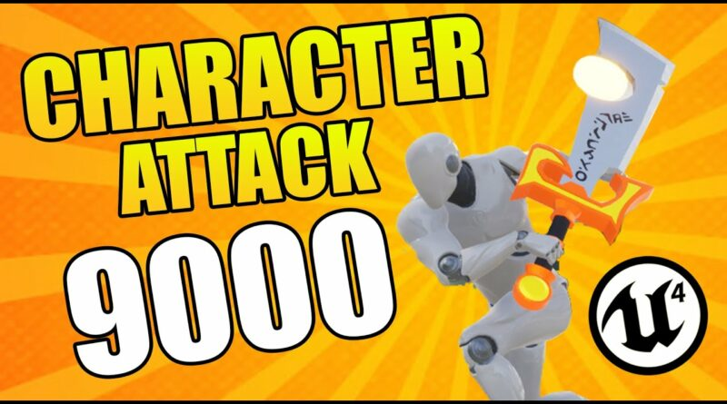 Unreal Engine 4 - Character Attack Tutorial (Attack Move & Combo Attacks included)