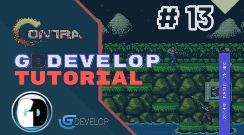 Gdevelop FREE VISUAL Game Engine: CONTRA Tutorial #13 - AMNO SYSTEM and TURRET ENEMY
