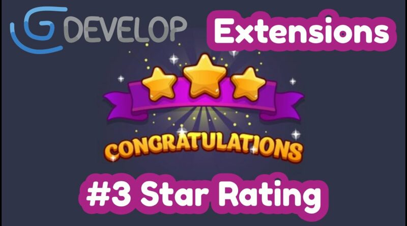 #3 Star Rating | GDevelop extensions