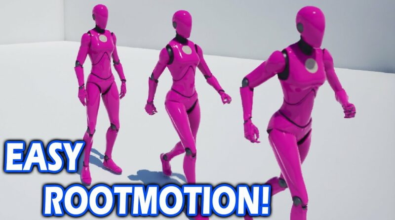 Unreal Engine 5 Easy Rootmotion System Tutorial | Walking & Running With 8 Directional Movement