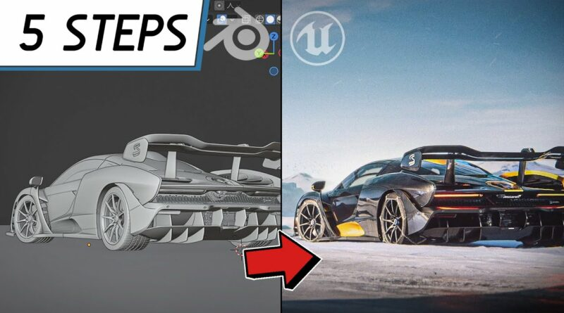 Blender to Unreal Workflow || 5 Steps for importing Cars
