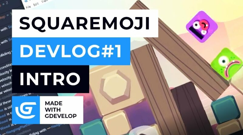 Squaremoji - Indie Game Devlog #1 - Intro - Made With GDevelop Free 2D Game Engine