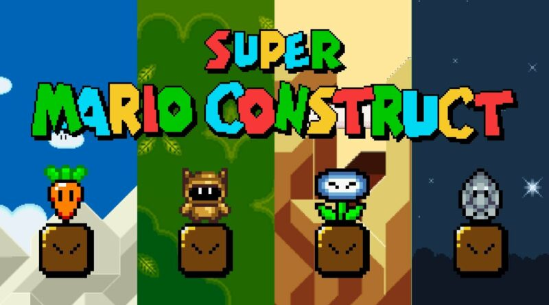 Super Mario Construct - NEW POWER-UPS (Superball, Tanooki Suit and more!) - Update 5.0.4.2