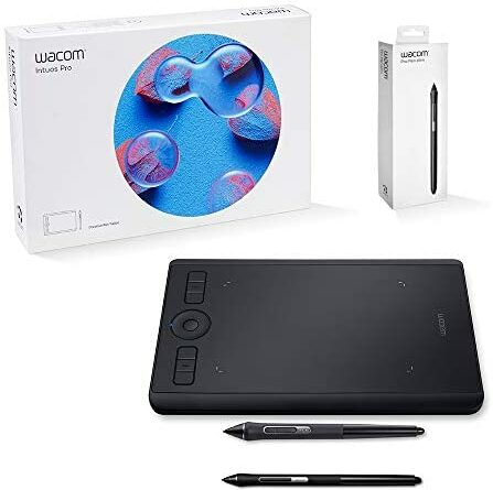 Wacom Intuos Pro Digital Graphic Drawing Tablet for Mac or PC, Small (PTH460K0A) New Model with Wacom Pro Pen Slim