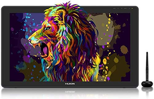 2020 HUION KAMVAS 22 Plus Graphics Drawing Monitor w/ Full Laminated QD Screen 140% sRGB, Android Support Battery-Free 8192 Pressure Levels Stylus Tilt Drawing Pen Tablet, 21.5 IN Pen Display w/ Stand
