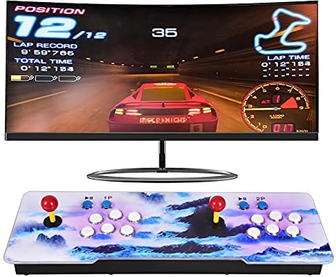 Timstono 3D Pandora's Box 18s,8000 Arcade Game Console Installed, Family GameMultiplayer Home Joystick, Recently List,Classic Arcade Game Console Compatible with HDMI and VGA.