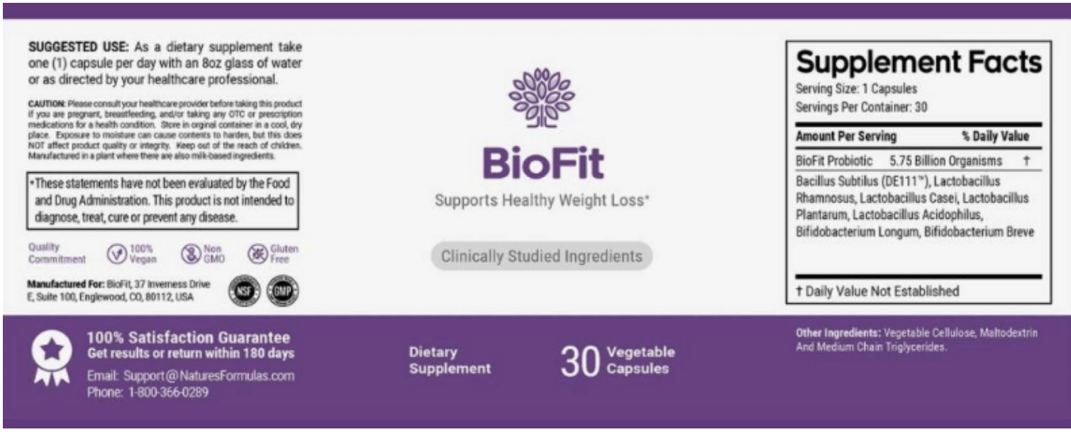 biofit ingredients