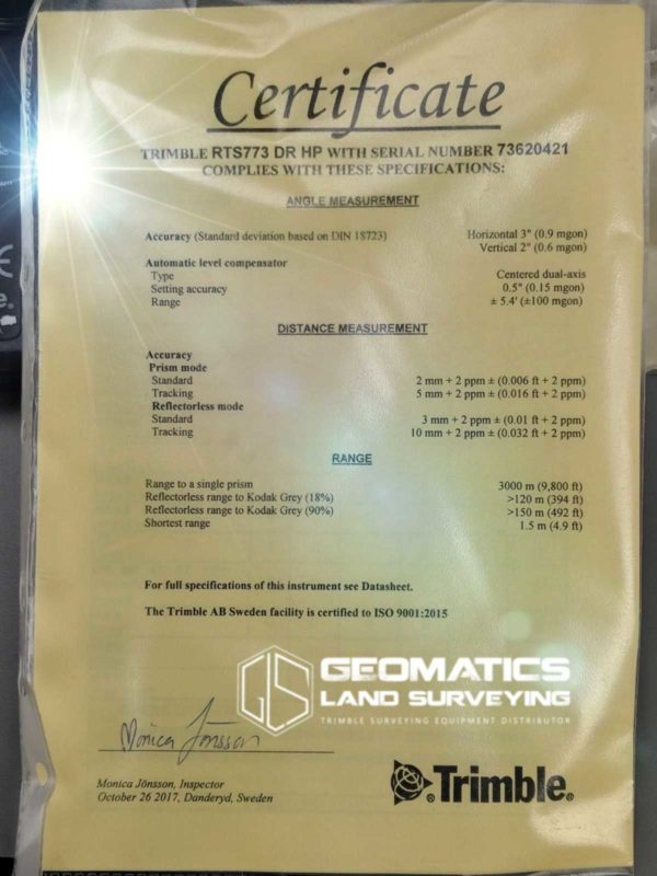 Trimble-RTS-773-certificate