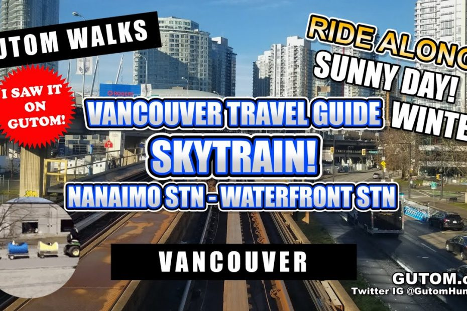 BEST SKYTRAIN RIDE! FRONT WINDOW VIEW SKYTRAIN EXPO LINE TRAIN POV   VANCOUVER FOOD AND TRAVEL GUIDE