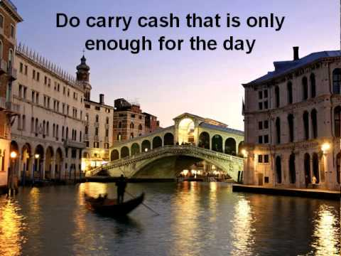 Italy Travel Guide - Dos and Donts