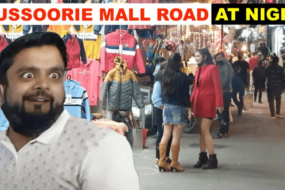 MUSSOORIE MALL ROAD at Night   Complete travel guide to Mussoorie Mall road   Uttarakhand #14