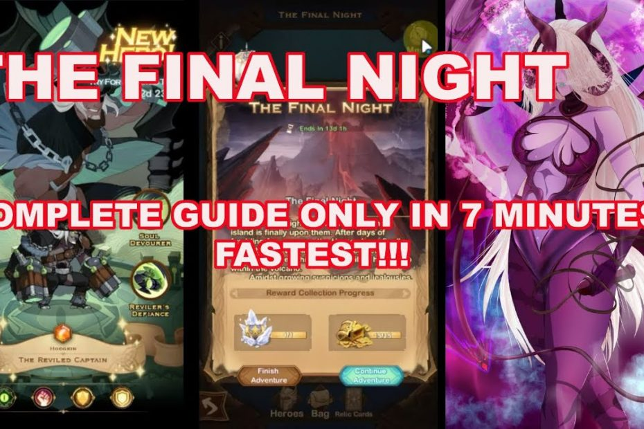 [AFK] THE FINAL NIGHT FASTEST GUIDE - NEW VOYAGE AFK ARENA
