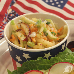 Apple Pineapple Slaw with Honey Mustard Dressing