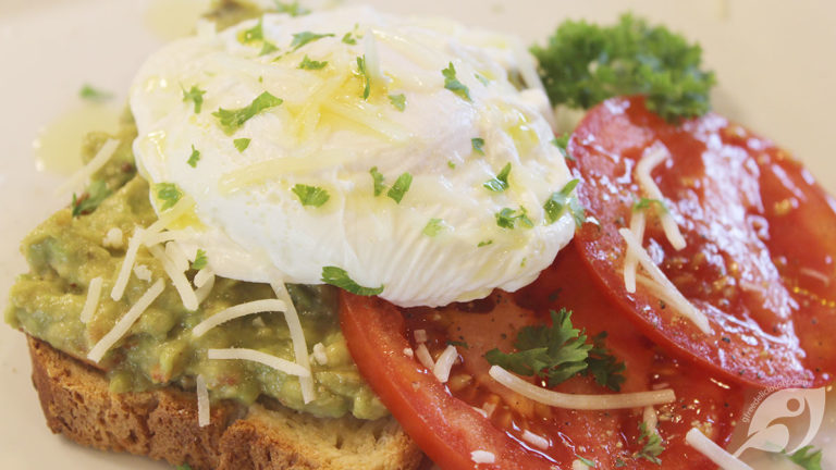 Avocado Toast with Fresh Tomato & Poached Egg