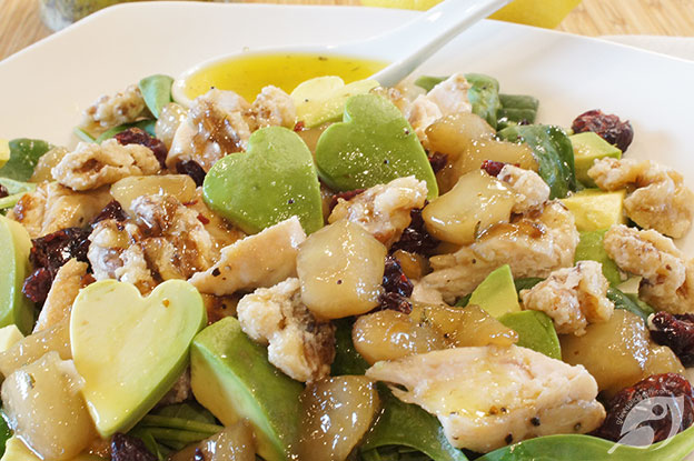 Gluten-Free Food: Poached Pear & Chicken Salad with Lemon Poppyseed Dressing