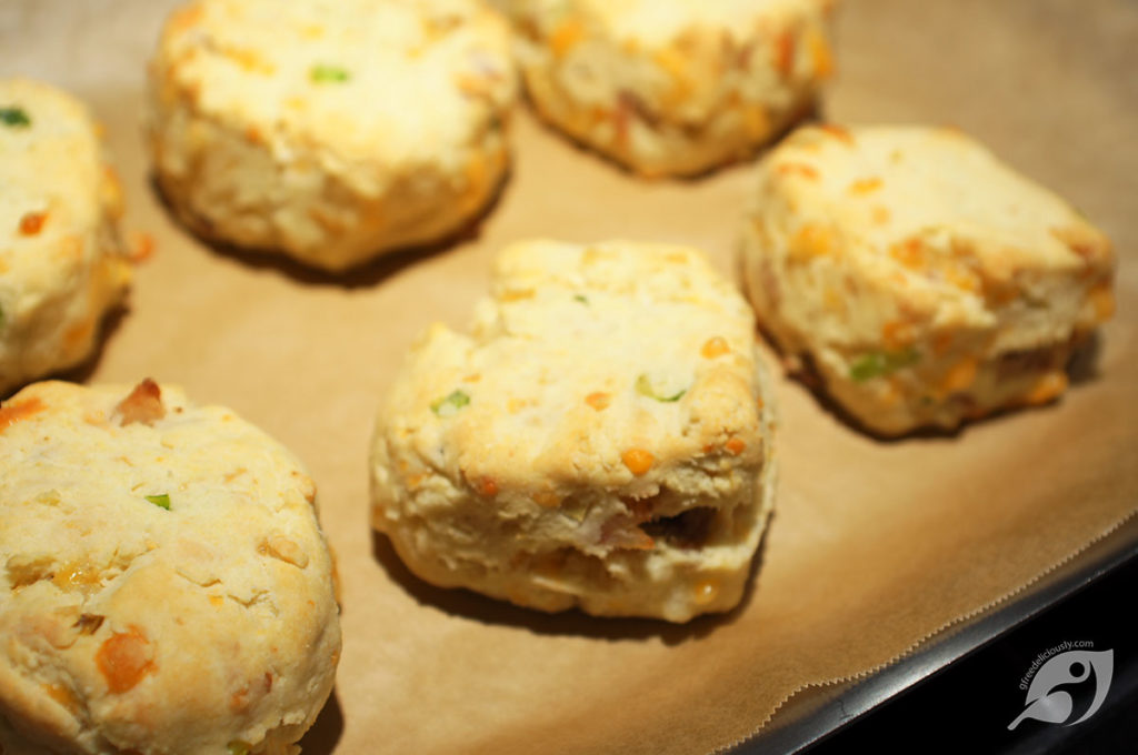 Savory Bacon, Cheddar & Scallion Biscuits